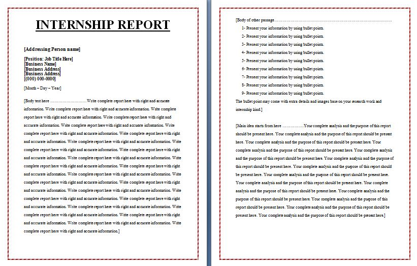 accounting internship report essays Internship report presented by: kevin p suhanic august 15, 2003 you would think that three years of school, half a dozen accounting classes and about.